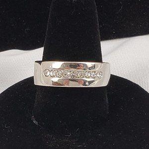 Men's Silvertone Wedding Ring